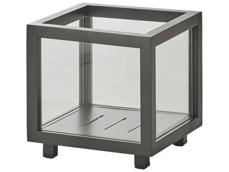 Cane Line Outdoor Lightbox Lava Grey Candle Holder (Sold in 2) PatioLiving