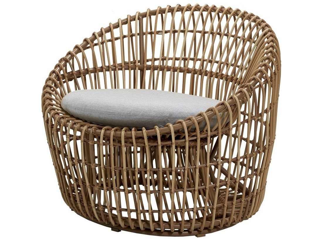 Cane Line Outdoor Nest Wicker Aluminum, Round Lounge Chair Cushions