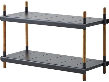 Cane Line Outdoor Frame Aluminum Teak Low Shelving System
