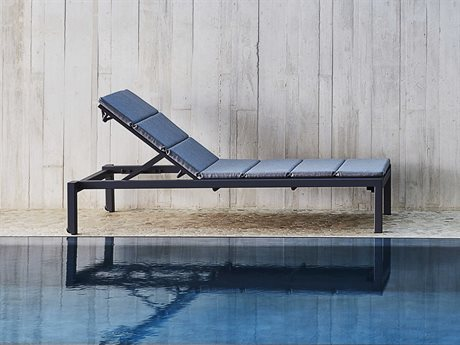 Cane Line Outdoor Relax Lava Grey / Aluminum Cushion Chaise Lounge