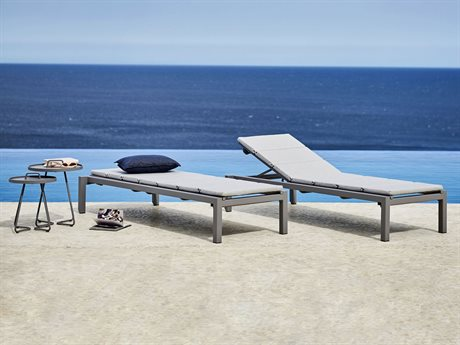 Cane Line Outdoor Relax Aluminum Cushion Lounge Set PatioLiving