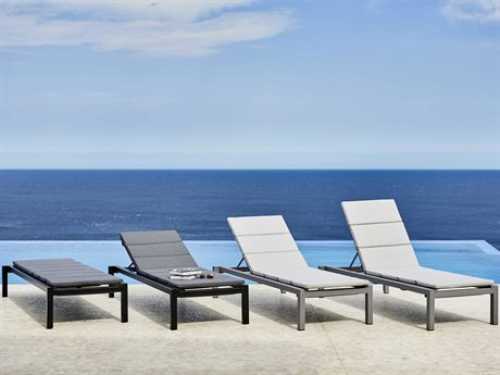 Cane Line Outdoor Relax Light Grey / Aluminum Cushion Lounge Set PatioLiving