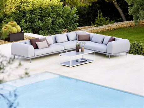 Cane Line Outdoor Space Aluminum Cushion Lounge Set PatioLiving