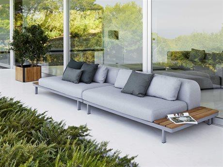Cane Line Outdoor Space Aluminum Cushion Lounge Set