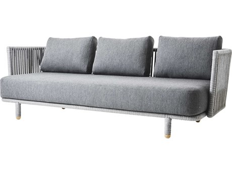 Cane Line Outdoor Moments Grey Aluminum Cushion Sofa PatioLiving