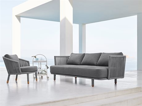 Cane Line Outdoor Moments Aluminum Cushion Lounge Set PatioLiving