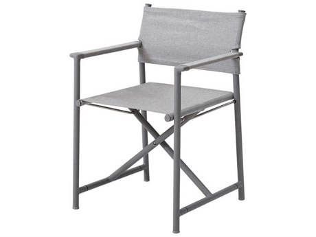 Cane Line Outdoor Struct Light Grey Aluminum Strap Dining Chair