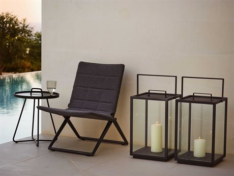Cane Line Outdoor Traveller Aluminum Cushion Lounge Set PatioLiving