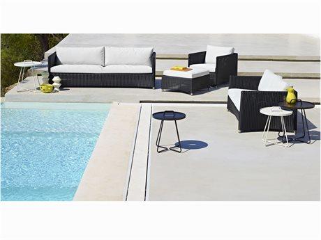 Cane Line Outdoor Diamond Wicker Concrete Lounge Set PatioLiving