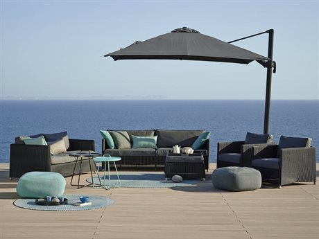 Cane Line Outdoor Diamond Wicker Cushion Lounge Set PatioLiving