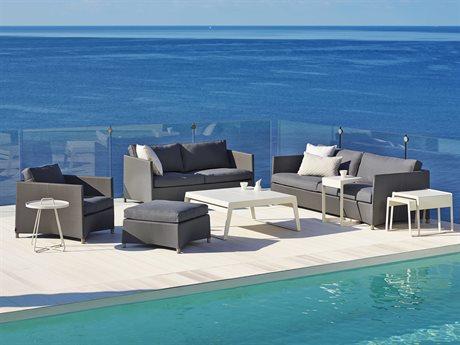 Cane Line Outdoor Diamond Aluminum Cushion Lounge Set