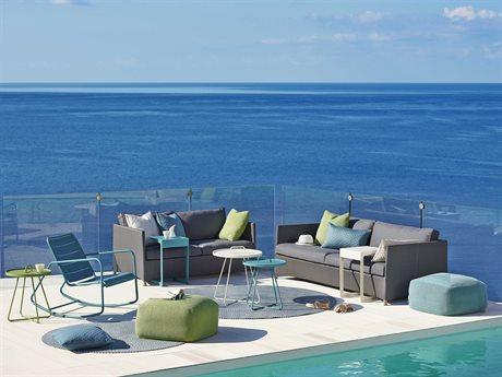 Cane Line Outdoor Diamond Aluminum Cushion Lounge Set PatioLiving
