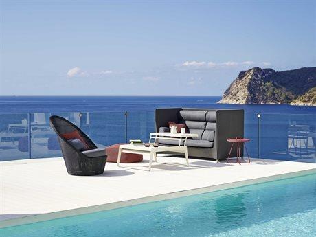 Cane Line Outdoor Diamond Aluminum Concrete Lounge Set PatioLiving