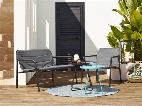 Cane Line Outdoor Kapa Aluminum Cushion Lounge Set