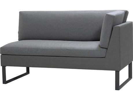 Cane Line Outdoor Flex Grey Aluminum Cushion Loveseat PatioLiving
