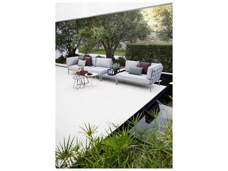 Cane Line Outdoor Conic Aluminum Cushion Sectional Lounge Set
