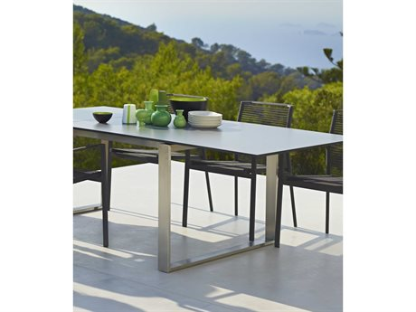 Cane Line Outdoor Edge  Aluminum Rope Strap Dining Set