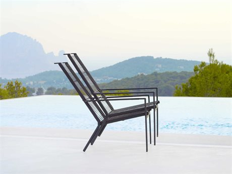 Cane Line Outdoor Edge  Aluminum Rope Strap Lounge Chair Set