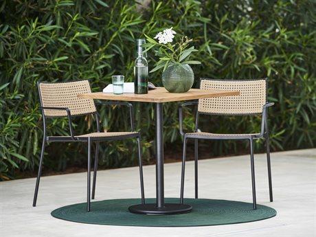 Cane Line Outdoor Less Aluminum Wicker Bistro Set