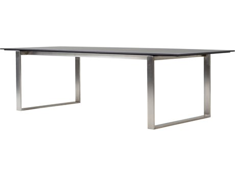 Cane Line Outdoor Edge Stainless Steel 82'' Wide Rectangular Dining Table