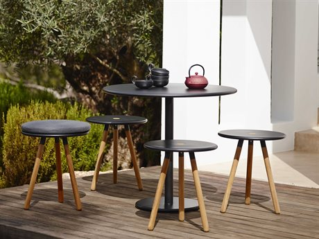 Cane Line Outdoor Aluminum Teak Dining Set