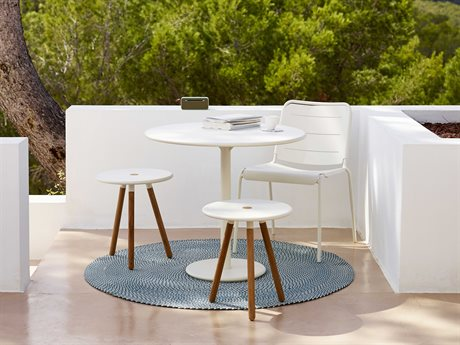 Cane Line Outdoor Grey Aluminum Resin Dining Set