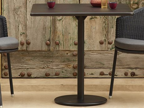 Cane Line Outdoor Lava Grey 29'' Wide Aluminum Square Bistro Table