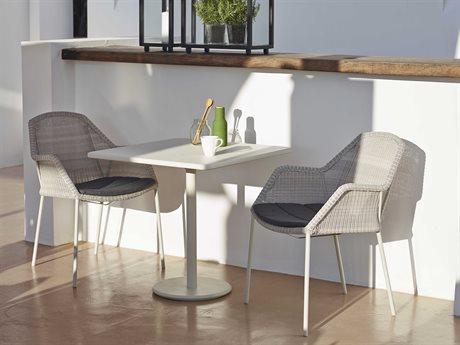 Cane Line Outdoor Aluminum Wicker Dining Set CNOP046AW5042AWSET1