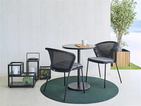 Cane Line Outdoor Aluminum Wicker Dining Set CNOP061ALTII5042ALSET2