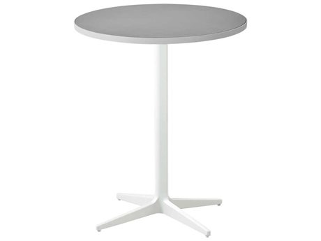 Cane Line Outdoor White / Light Grey 23'' Wide Aluminum Round Bistro Table