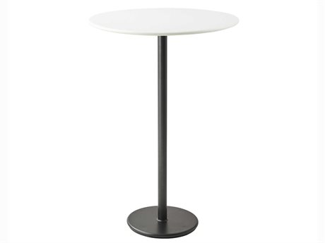 Cane Line Outdoor White / Lava Grey 31'' Wide Aluminum Round Bar Table