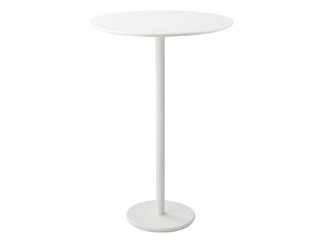 Cane Line Outdoor White 31'' Wide Aluminum Round Bar Table