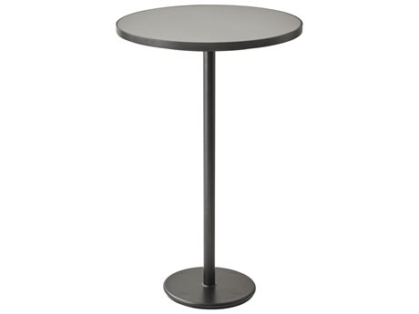Cane Line Outdoor Lava Grey / And Light 29'' Wide Aluminum Round Counter Table