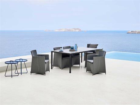 Cane Line Outdoor Pure Aluminum Ceramic Dining Set PatioLiving
