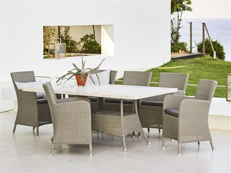 Cane Line Outdoor Aluminum Wicker Dining Set