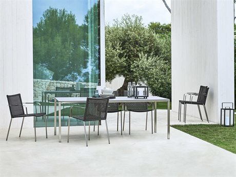 Cane Line Outdoor Straw  Aluminum Dining Set