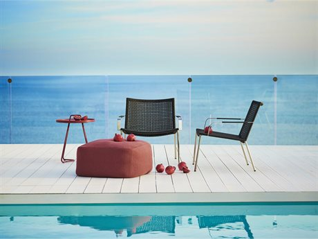 Cane Line Outdoor Straw  Aluminum Lounge Set