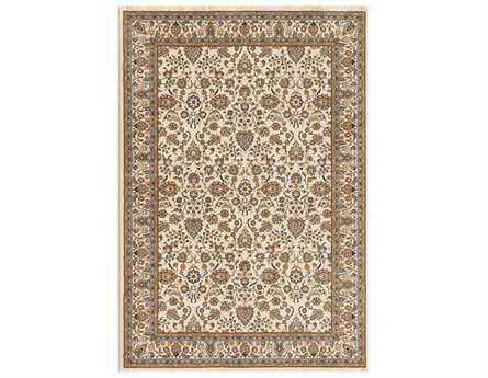 Central Oriental Royal Emperor Rectangular Ivory Area Rug