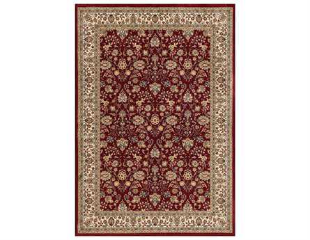 Central Oriental Royal Emperor Rectangular Red Area Rug