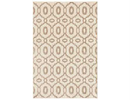 Central Oriental Soprano Storm Millwall Rectangular Snow & Grey Area Rug