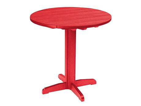 C.R. Plastic Generation 32 Round Bar Table