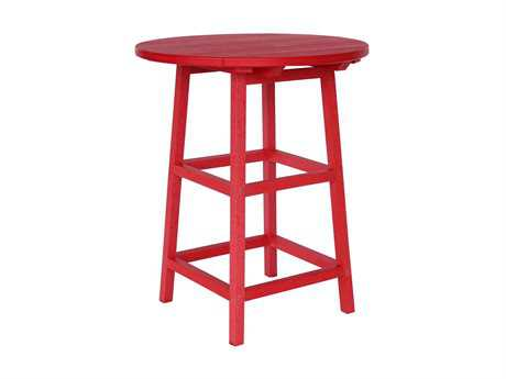 C.R. Plastic Generation 37 Round Bar Table