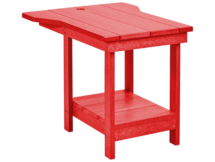 C.R. Plastic Generation Recycled Plastic 29''W x 17''D Rectangular Tete A Tete Table Upright End Table PatioLiving