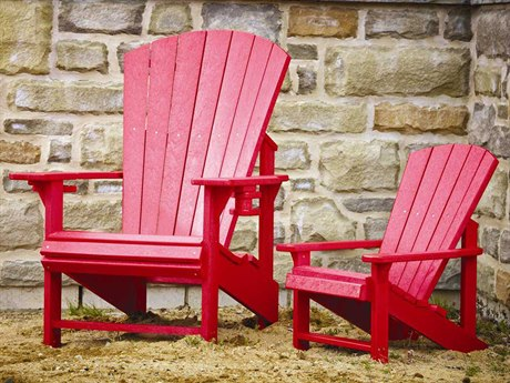 C.R. Plastic Generation Adult and Child Adirondack Set CRADDYKIDSET