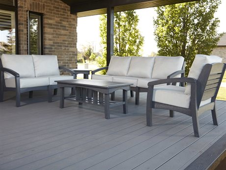 C.R. Plastic Bay Breeze Deep Seating Recycled Plastic Lounge Set