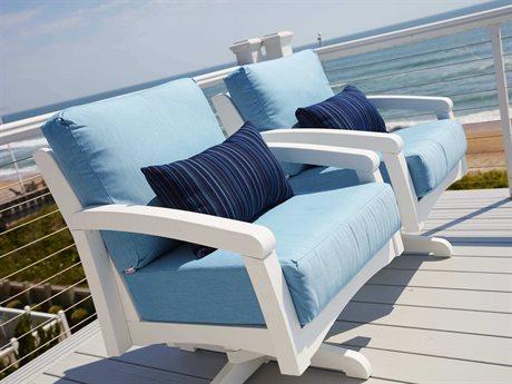 C.R. Plastic Bay Breeze Coastal Deep Seating Recycled Cushion Lounge Set PatioLiving