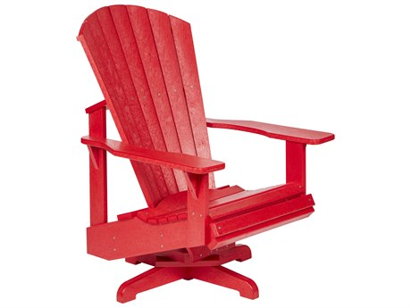 C.R. Plastic Generation Recycled Plastic Swivel Adirondack Chair PatioLiving
