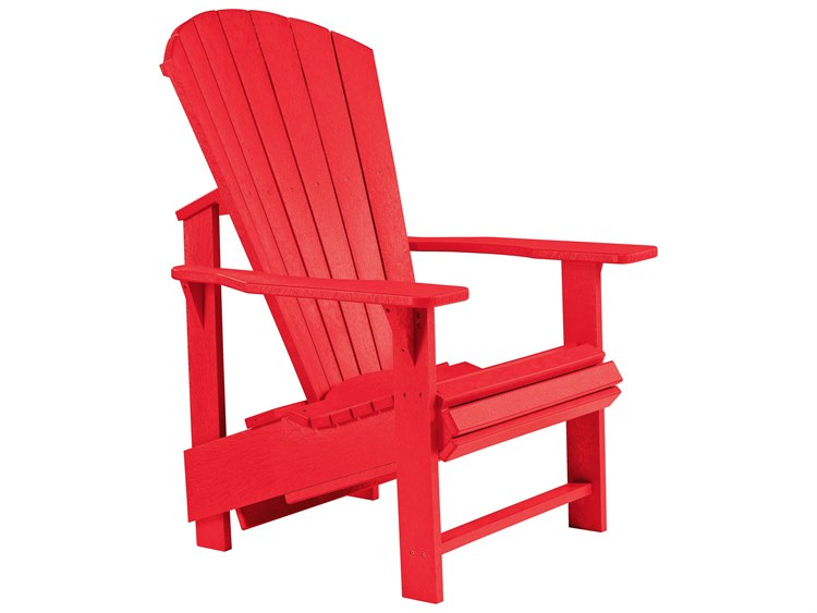 C.R. Plastic Generation Recycled Plastic Adirondack Upright Chair