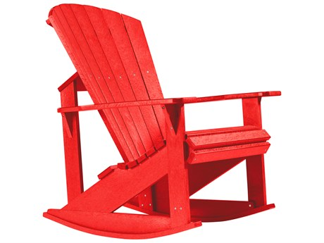 C.R. Plastic Generation Recycled Plastic Adirondack Rocking Chair