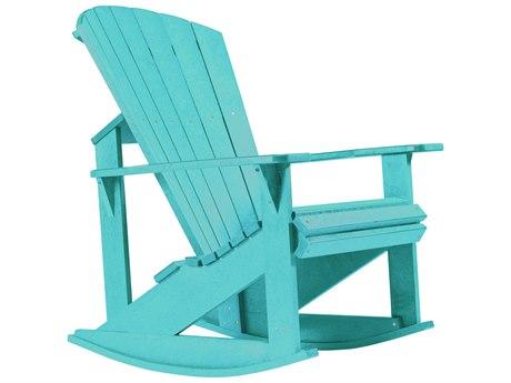 C.R. Plastic Generation Recycled Plastic Adirondack Rocking Chair